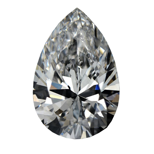 Pear Cubic Zirconia - White - 3mm x 5mm