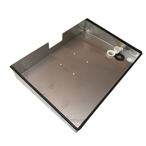 Stainless Tray for Gemmasta GMP8 No.1, No.2 & No.3 Grinders (includes drain attachment)