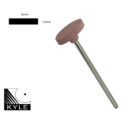 Kyle 15mm  Mounted Flat Edge Polisher Course
