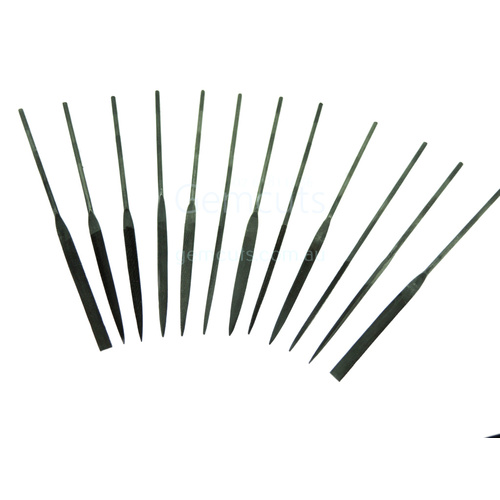 Mini Needle File Set of 12 -  2mm x 100mm