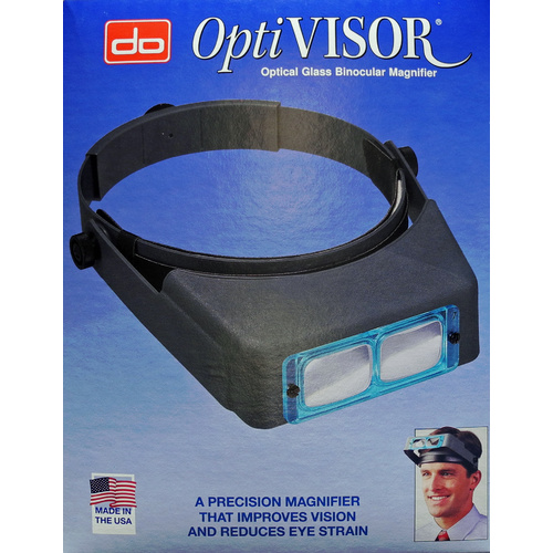 OptiVISOR   with Number 10 lens - 3 1/2 Inch times magnification at 4 inches