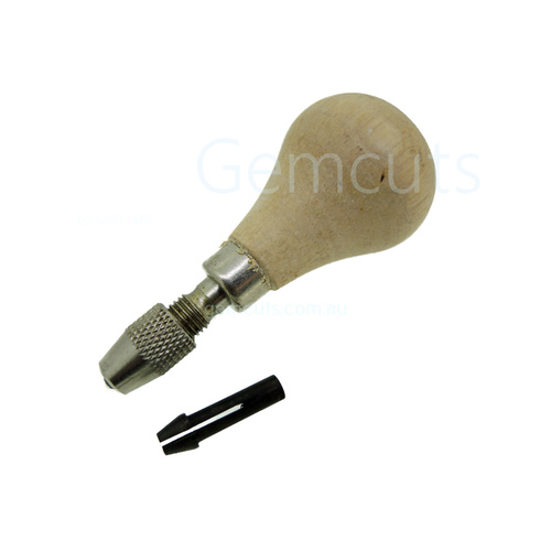 Wooden Handle Pin Vice (Round End)